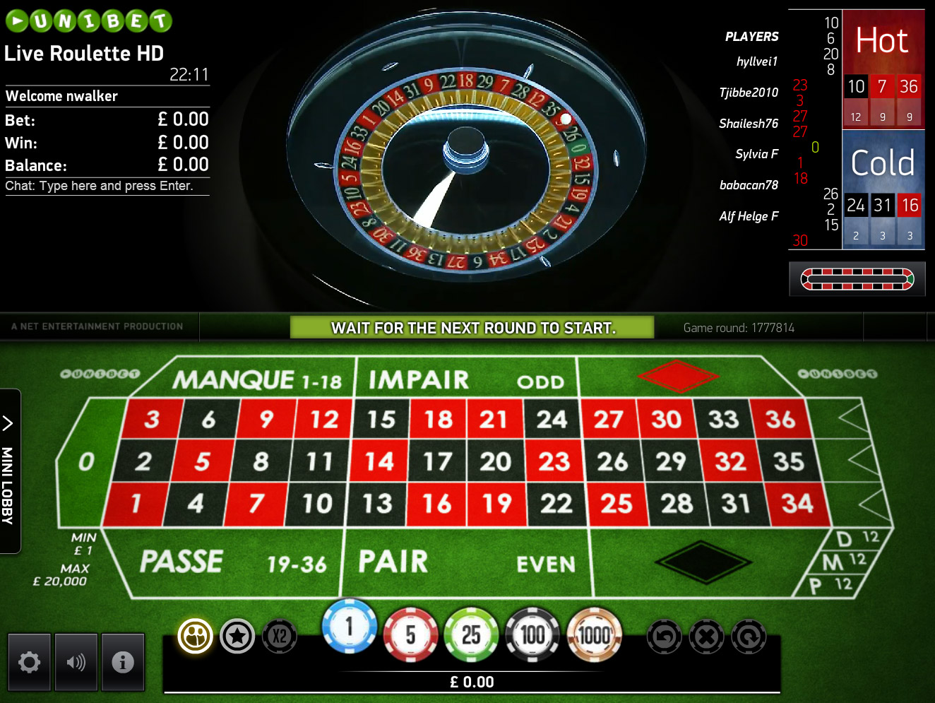 Live Auto French Roulette HD - Mobil6000