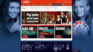 redBet Live Casino - Home Page